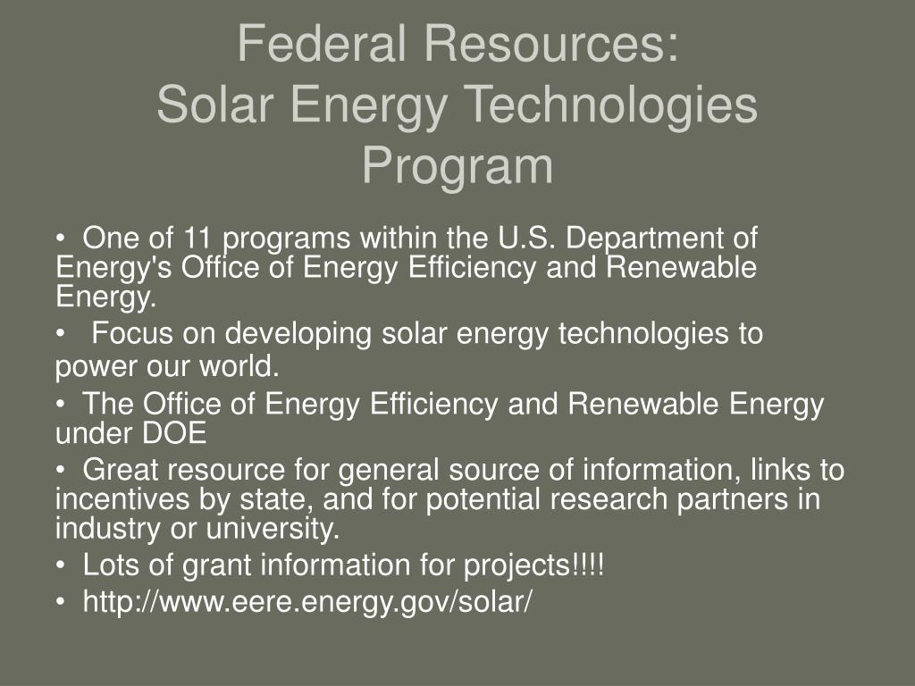 Federal Resources: