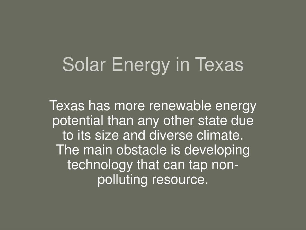 Solar Energy in Texas