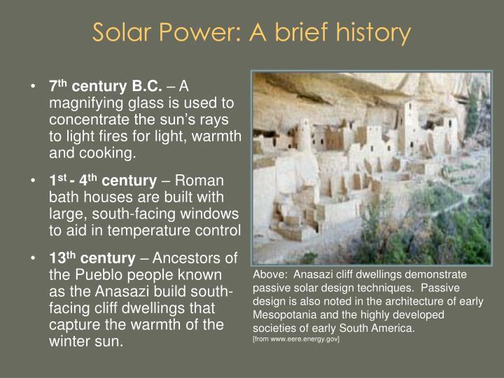 Solar power a brief history