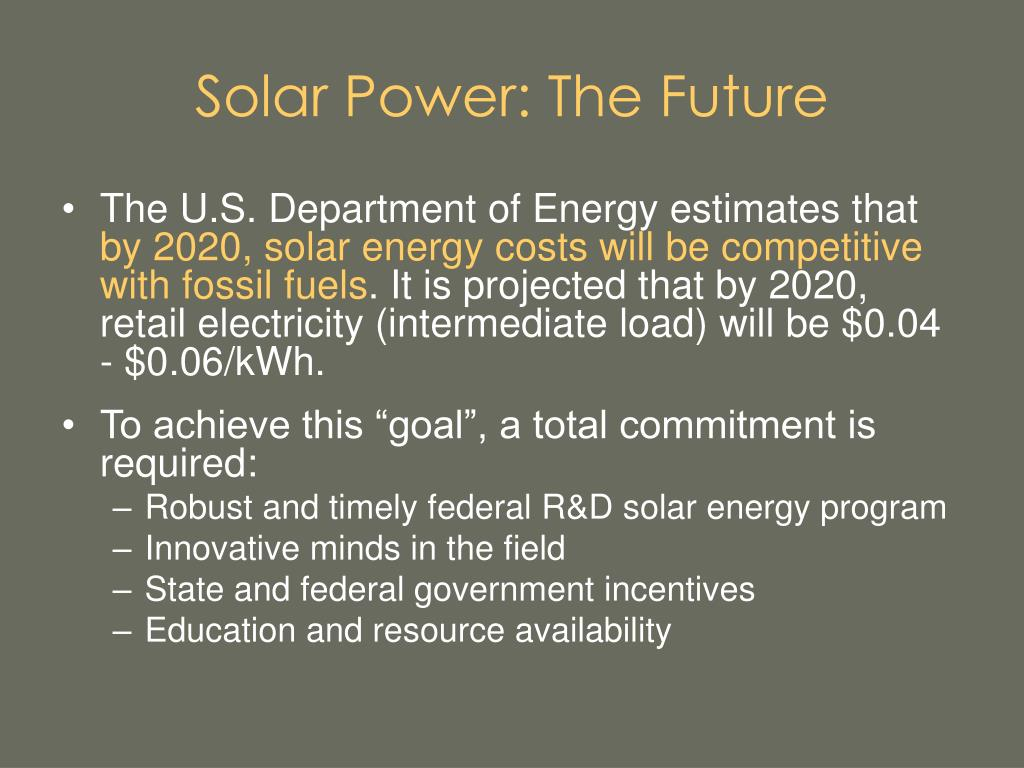 Solar Power: The Future