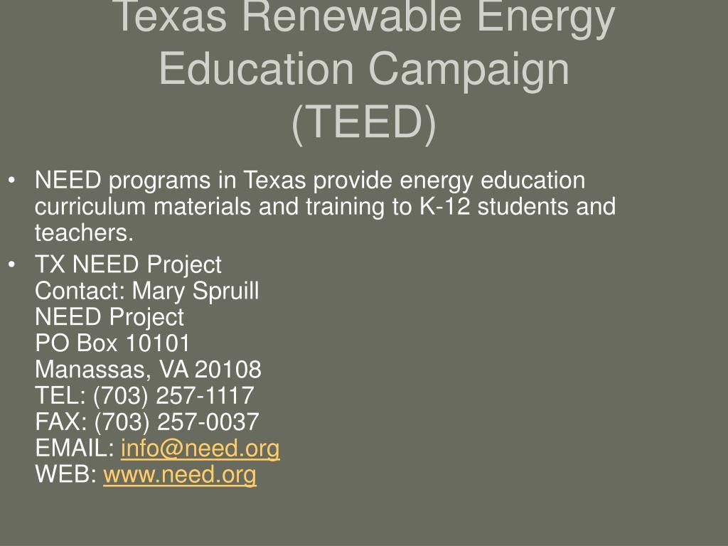 Texas Renewable Energy Education Campaign