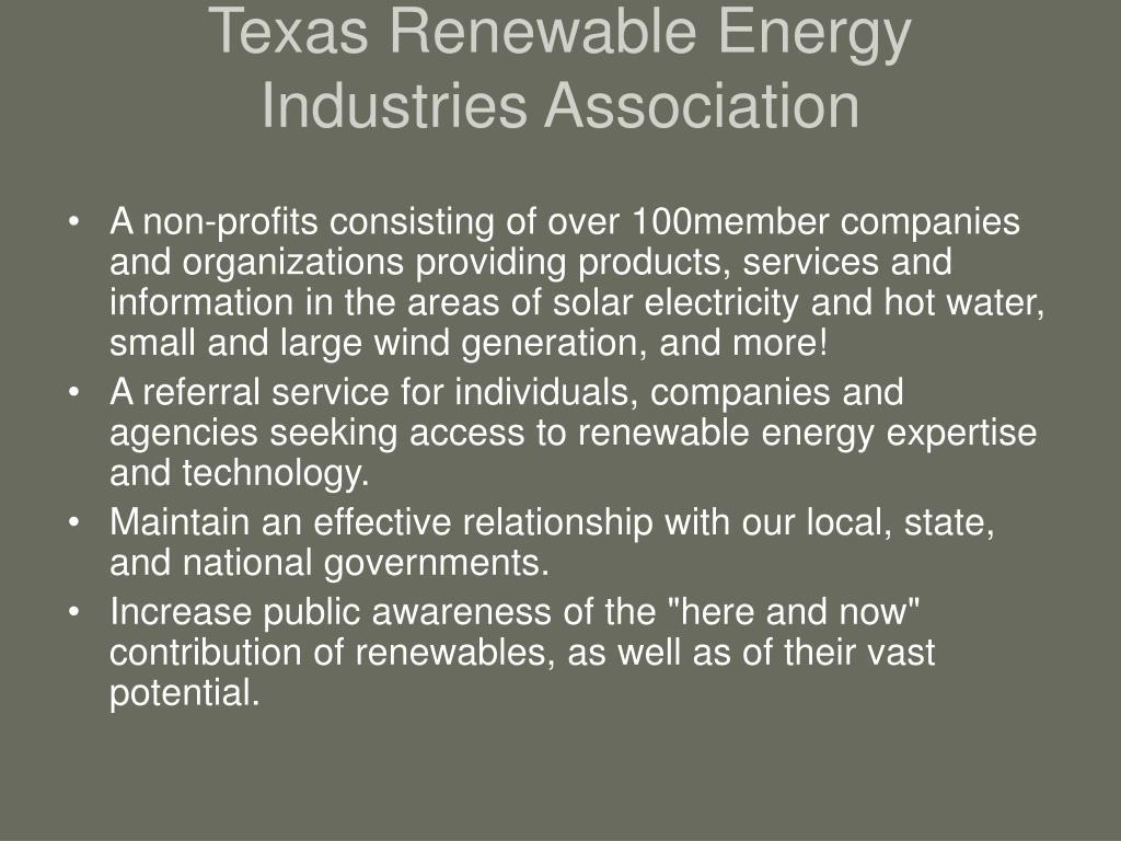 Texas Renewable Energy Industries Association