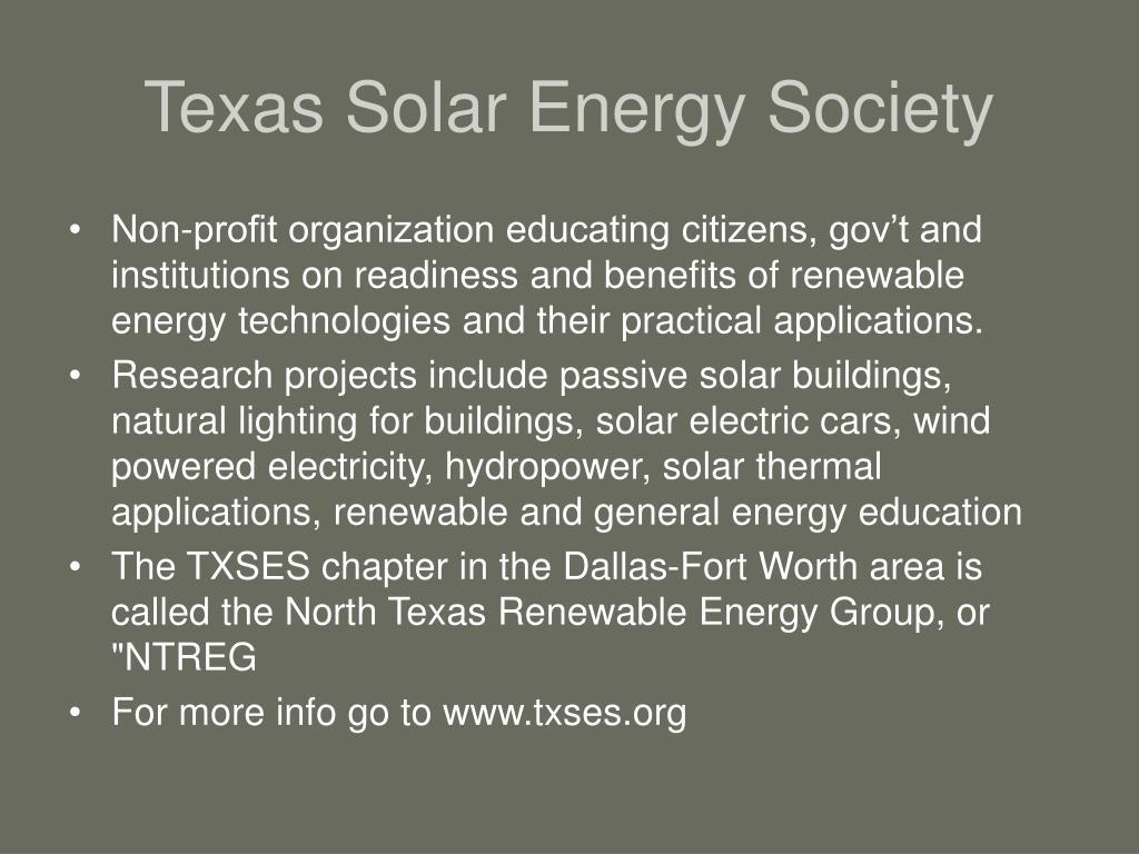 Texas Solar Energy Society