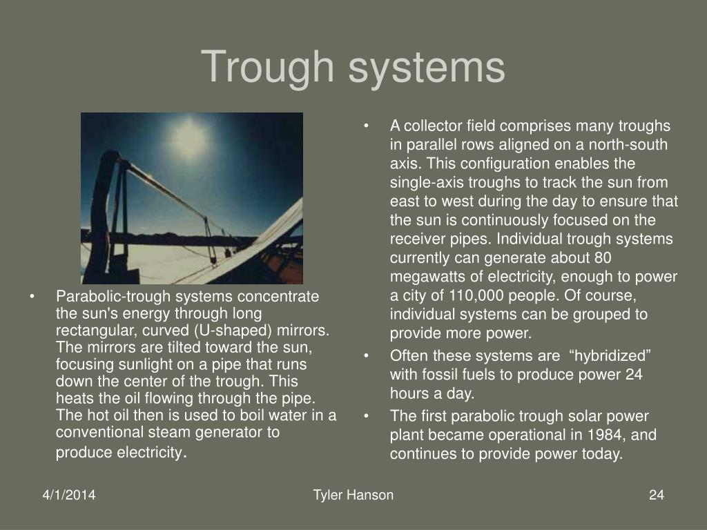 Trough systems