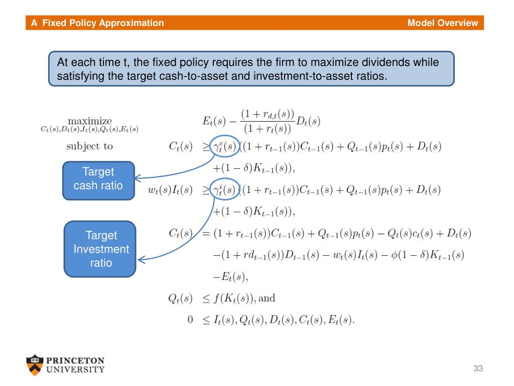 A  Fixed Policy Approximation                                                                                              Model Overview