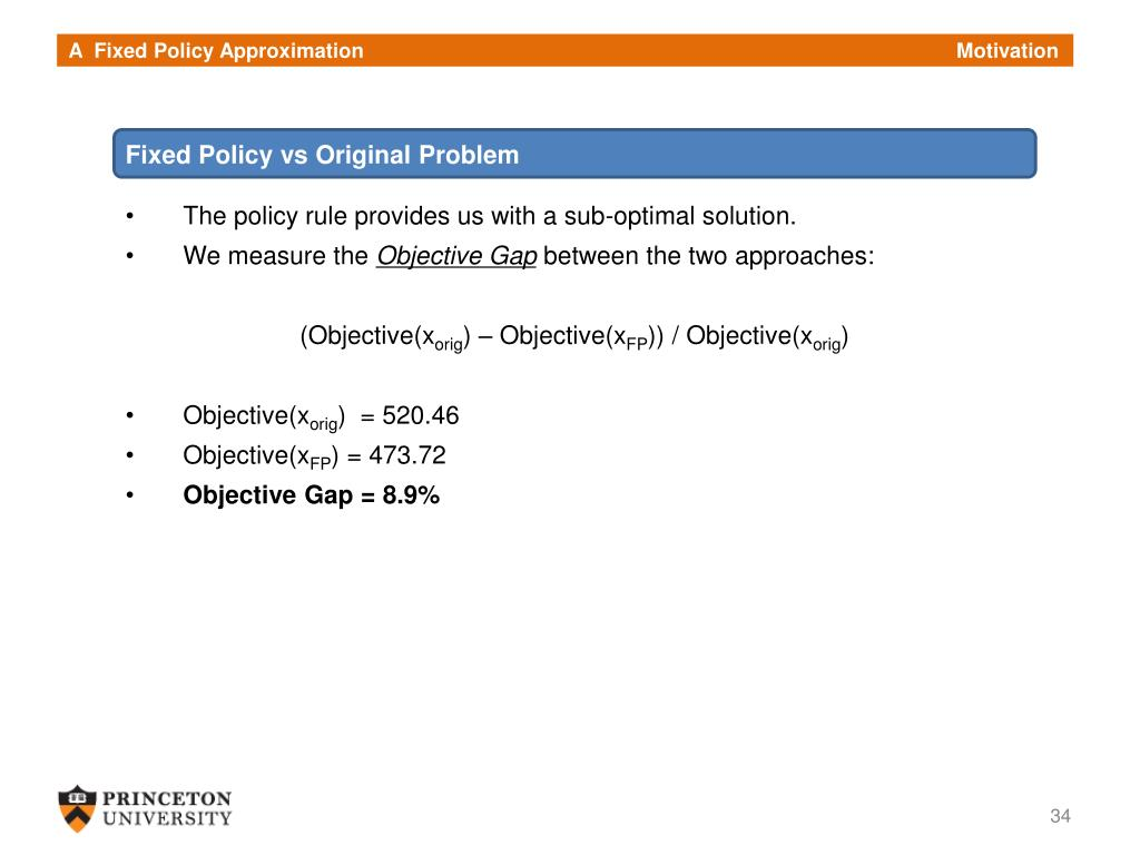 A  Fixed Policy Approximation                                                                                                       Motivation