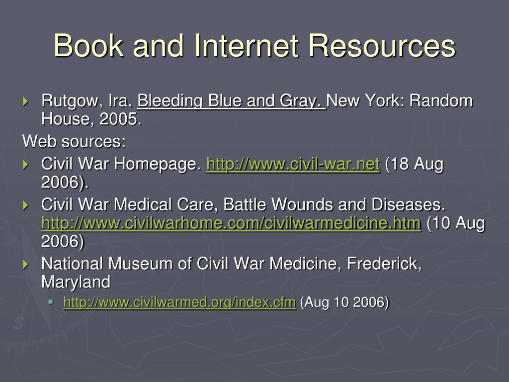 Book and Internet Resources