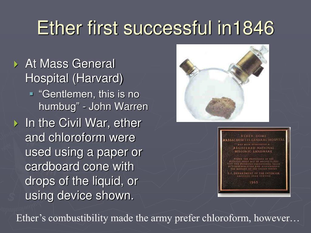 Ether first successful in1846