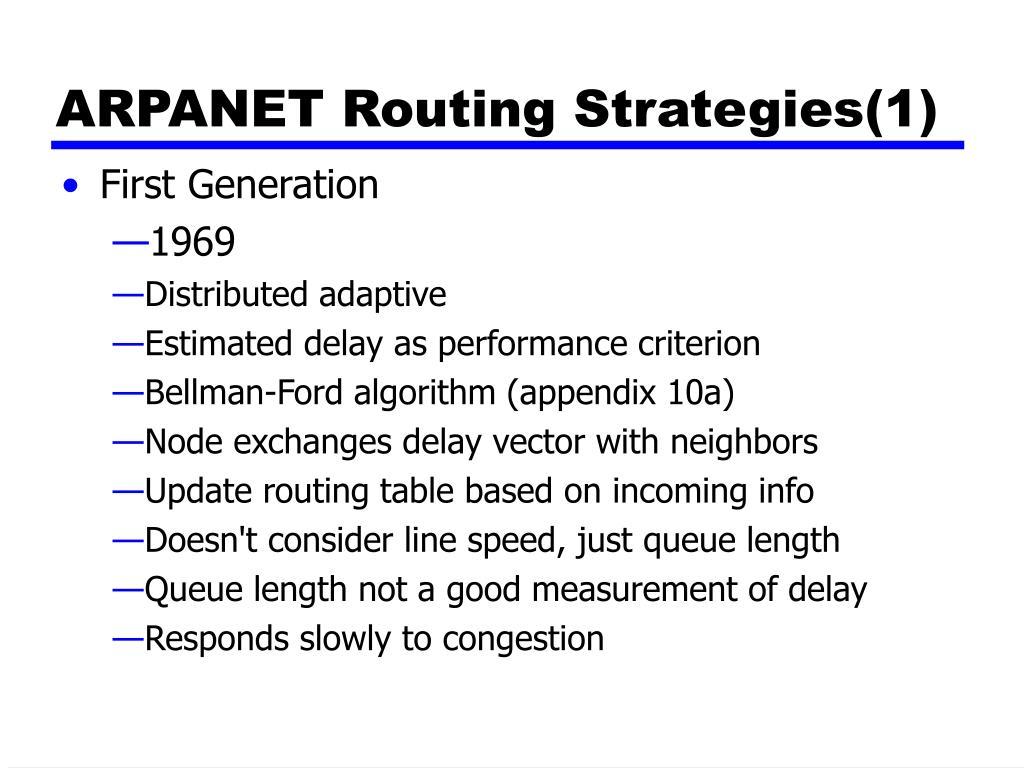 ARPANET Routing Strategies(1)
