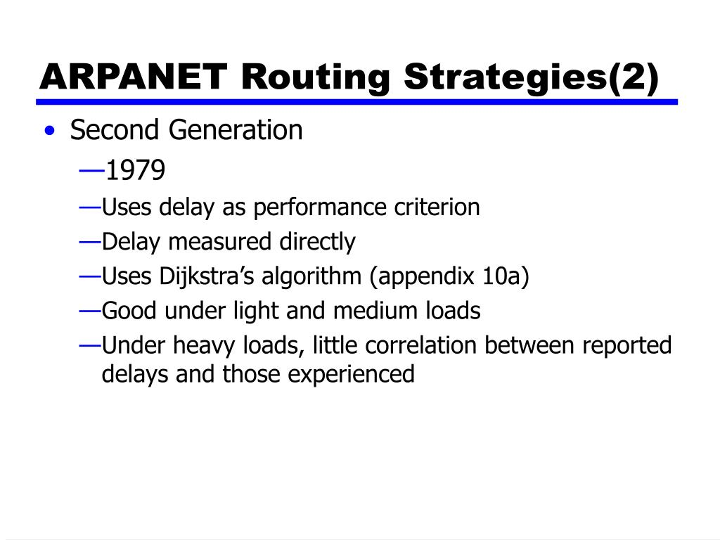 ARPANET Routing Strategies(2)