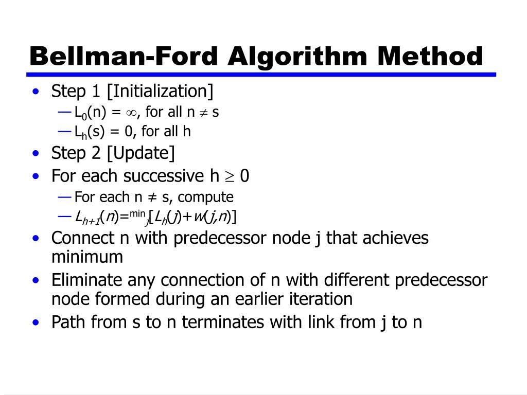Bellman-Ford Algorithm Method