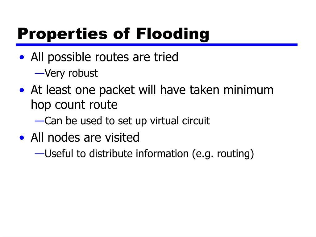 Properties of Flooding