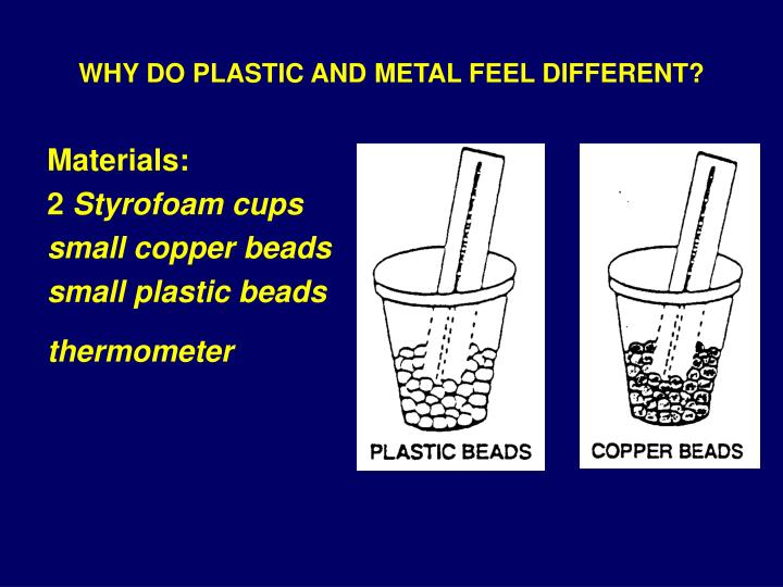 Why do plastic and metal feel different3