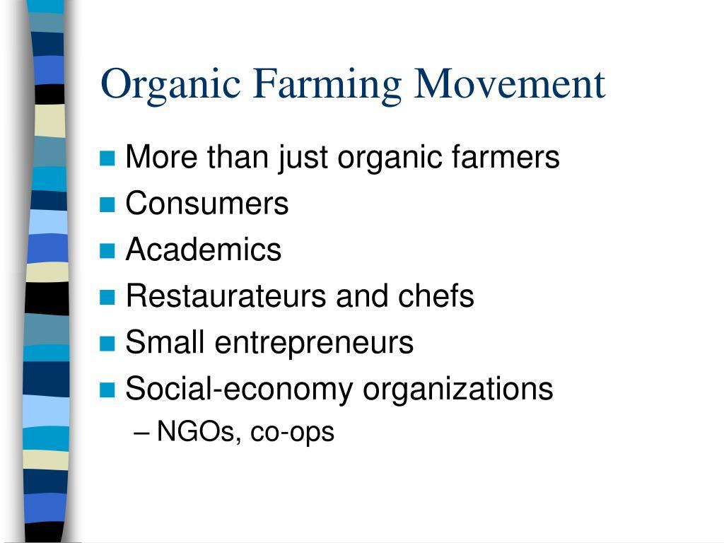 Organic Farming Movement