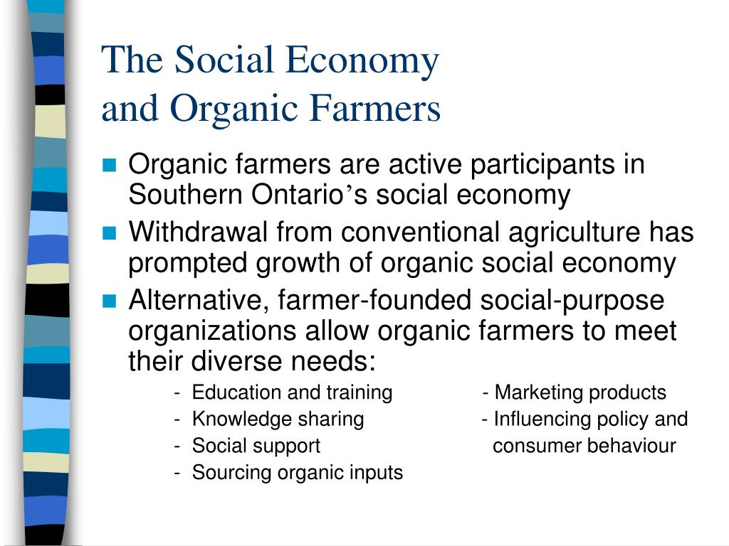 Organic farmers are active participants in Southern Ontario