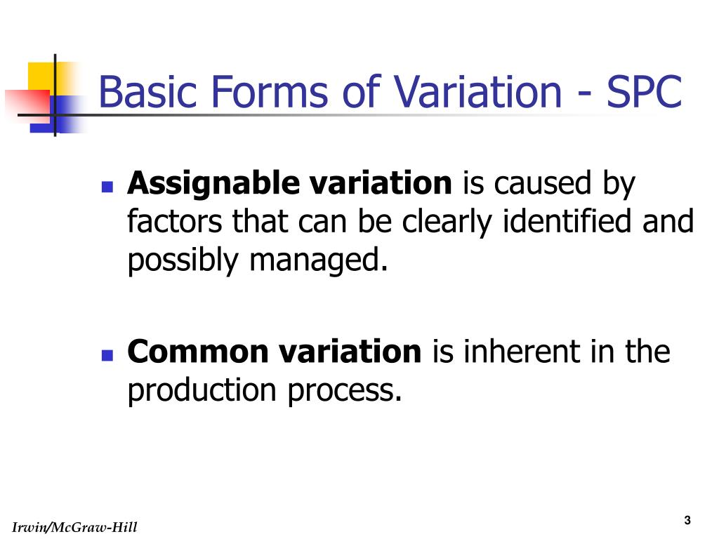 Basic Forms of Variation - SPC