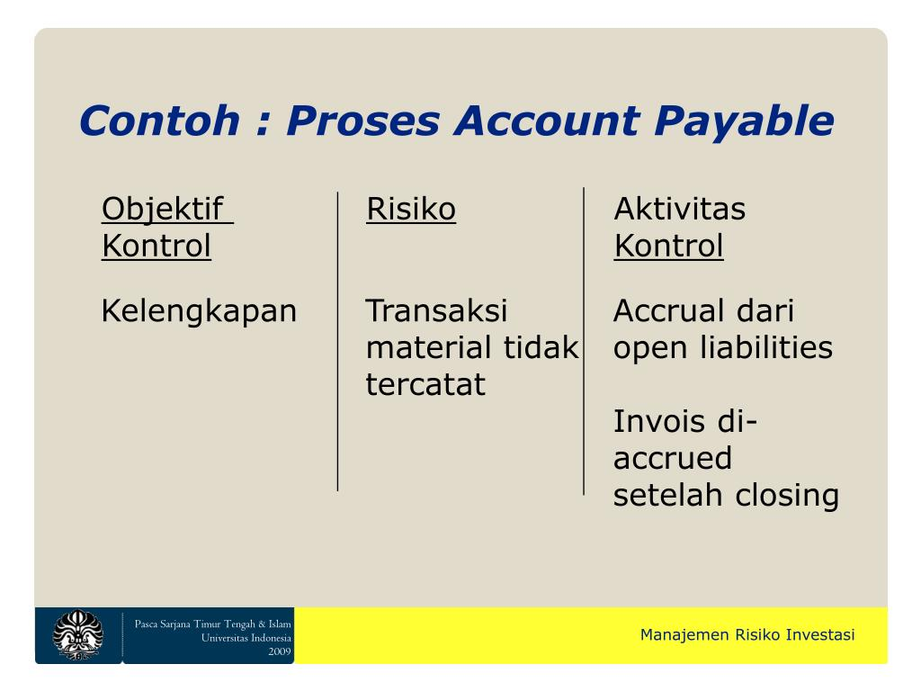 Contoh : Proses Account Payable