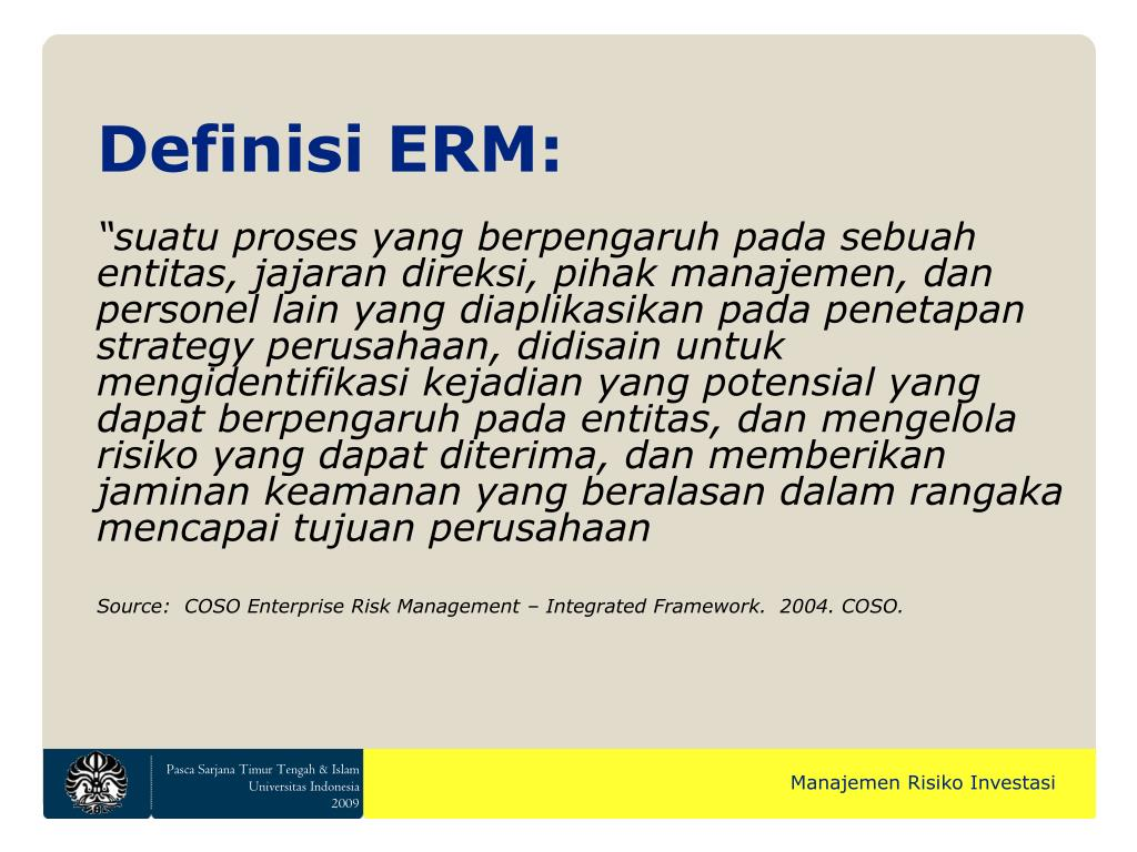 Definisi ERM:
