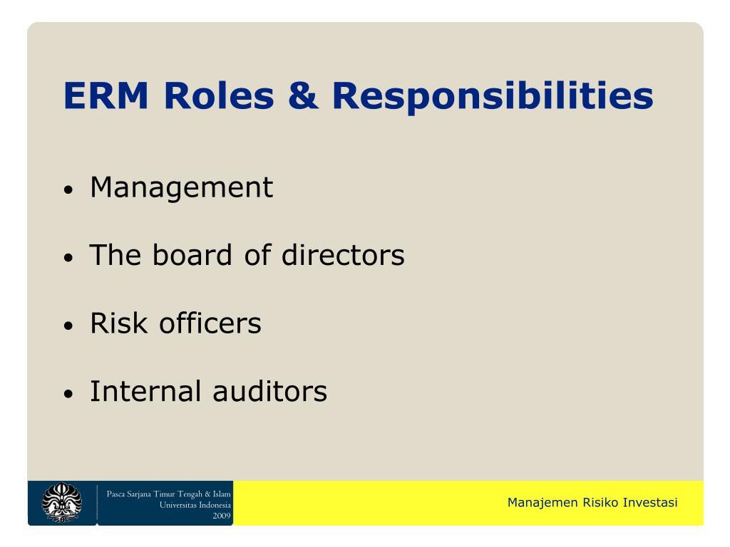 ERM Roles & Responsibilities
