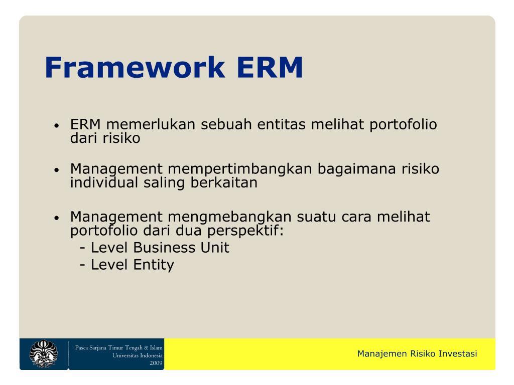 Framework ERM