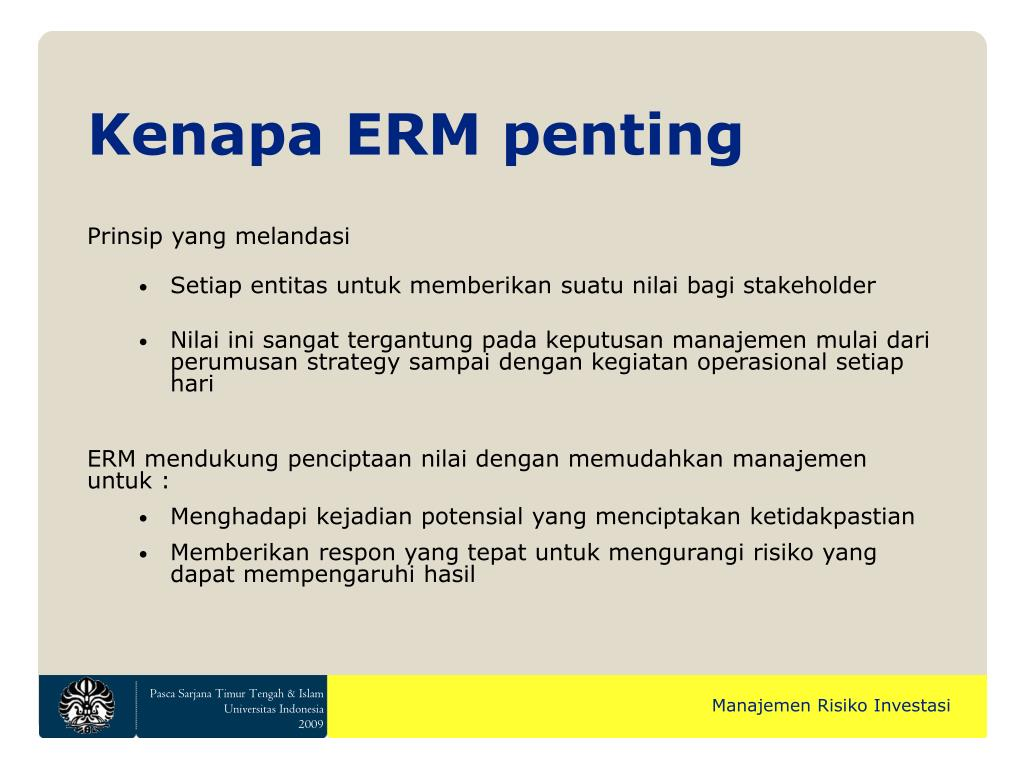 Kenapa ERM penting