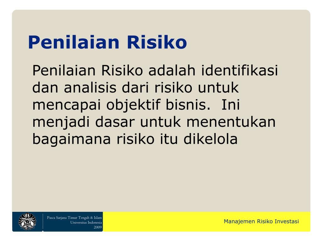 Penilaian Risiko