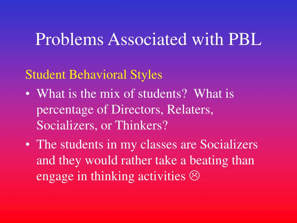 Problems Associated with PBL