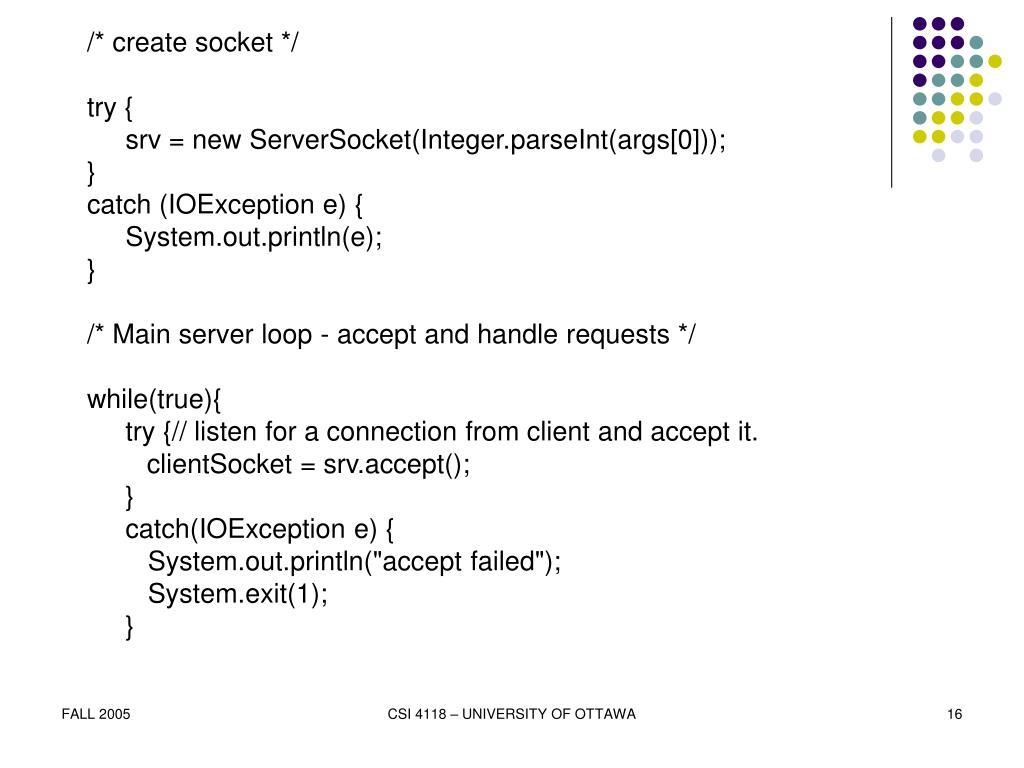 /* create socket */