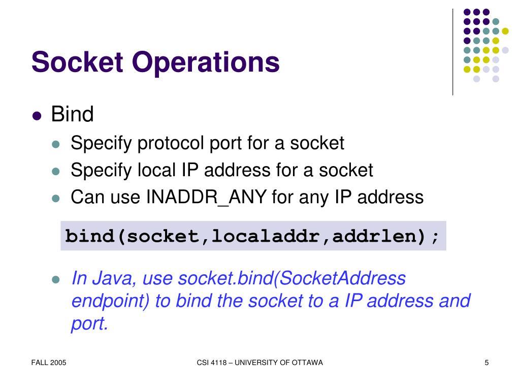 Socket Operations