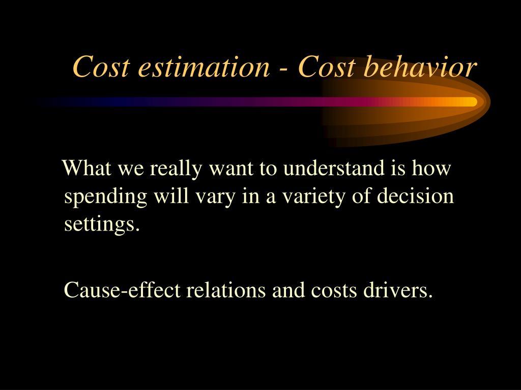 cost estimation cost behavior l.