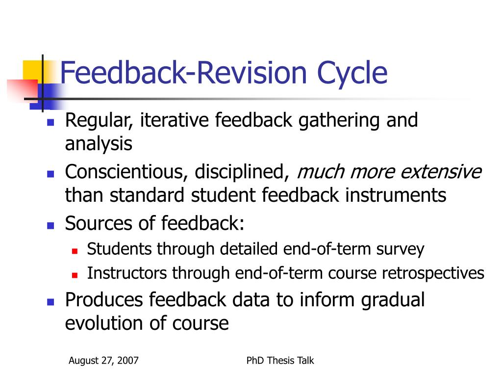 Feedback-Revision Cycle