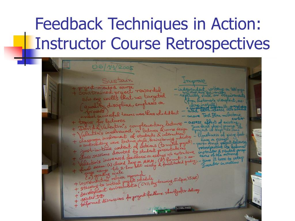 Feedback Techniques in Action: Instructor Course Retrospectives