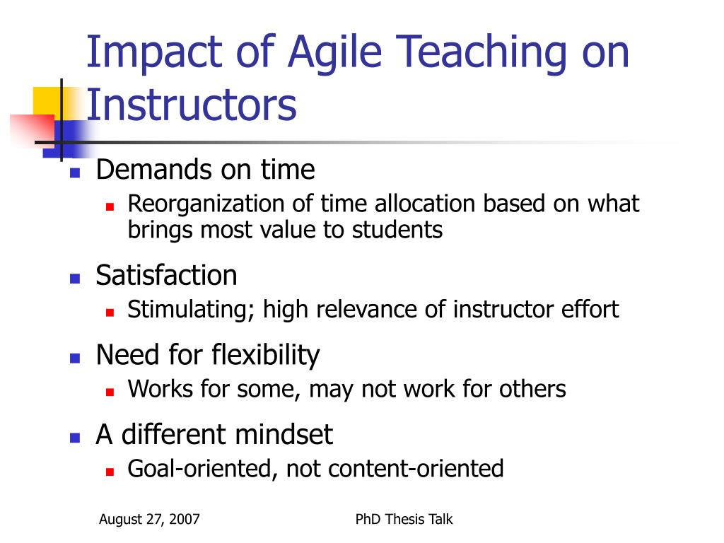 Impact of Agile Teaching on Instructors