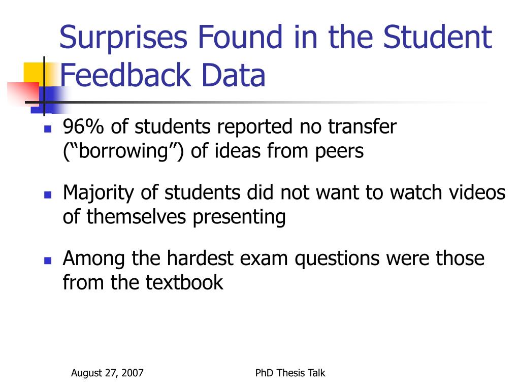 Surprises Found in the Student Feedback Data