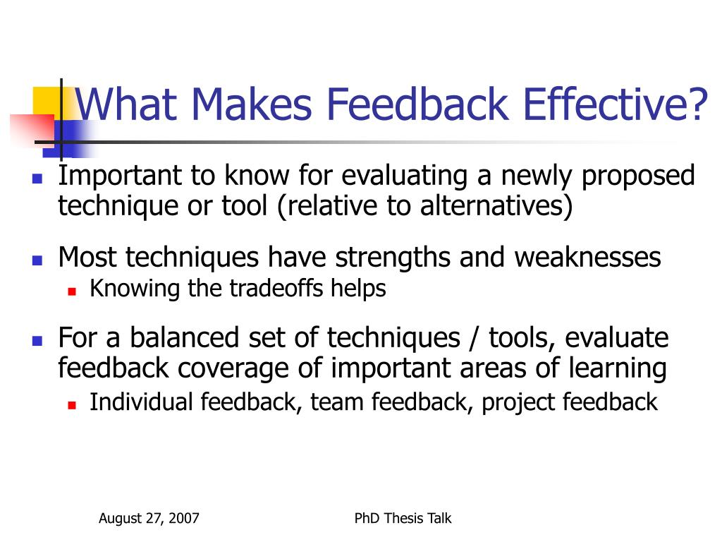 What Makes Feedback Effective?