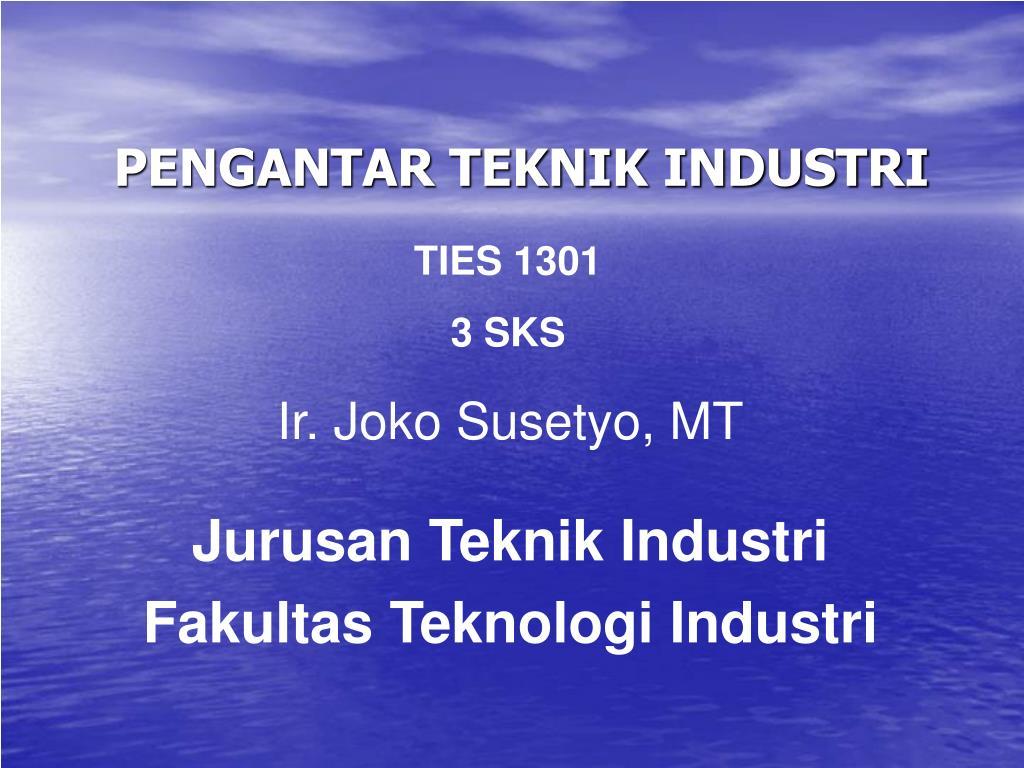 pengantar teknik industri l.