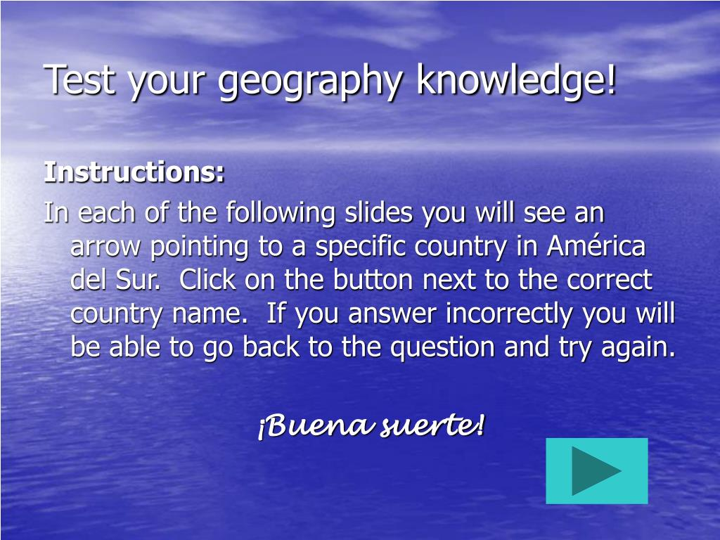 Test your geography knowledge!