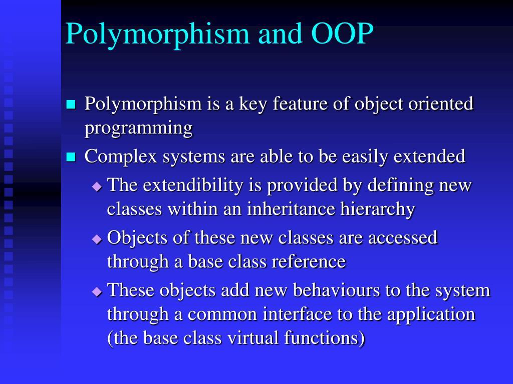 Polymorphism and OOP