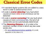 classical error codes