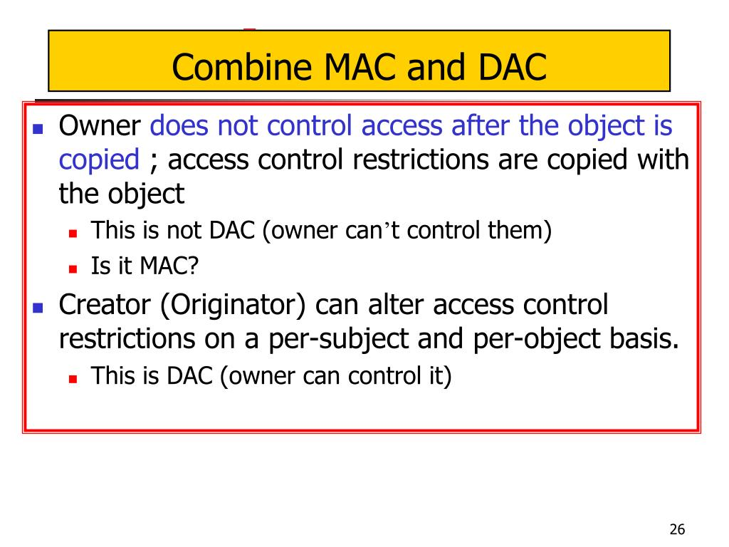 Combine MAC and DAC