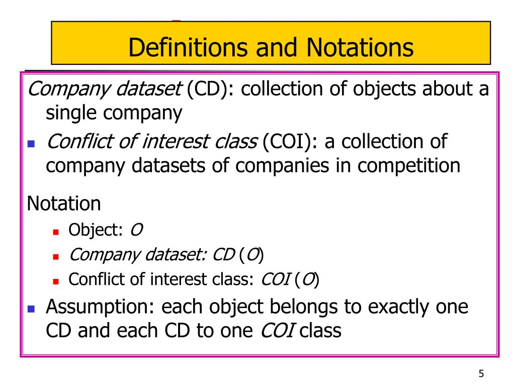 Definitions and Notations