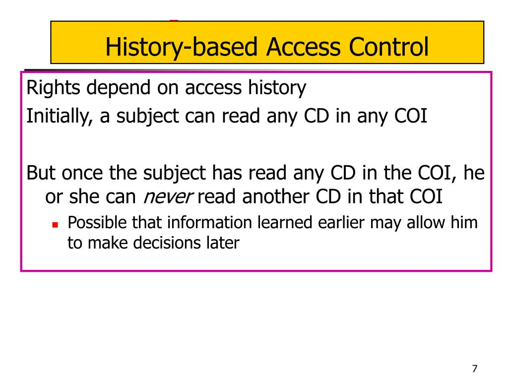 History-based Access Control