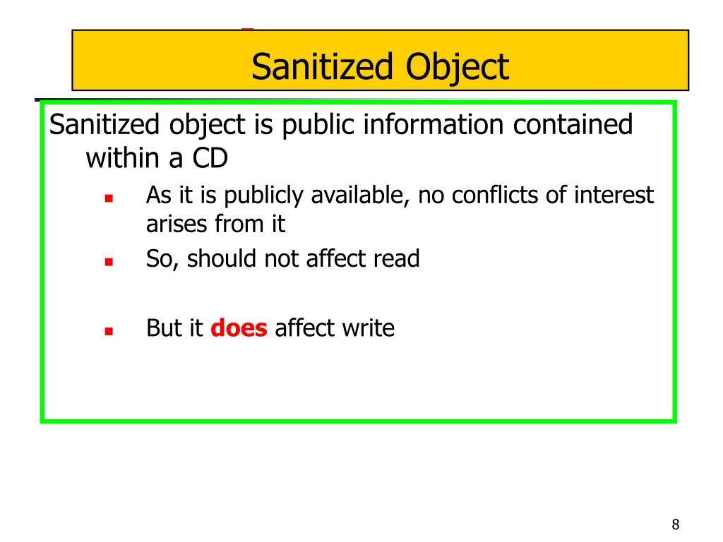 Sanitized Object