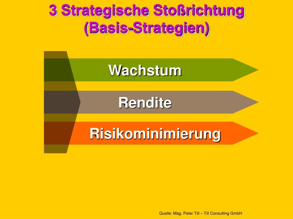 3 Strategische Stoßrichtung