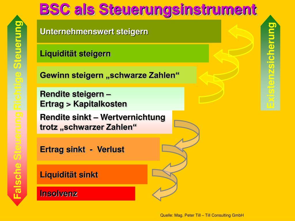 BSC als Steuerungsinstrument