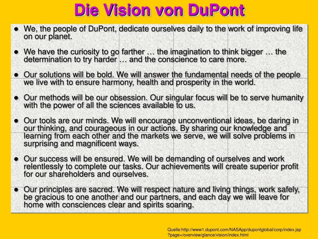 Die Vision von DuPont