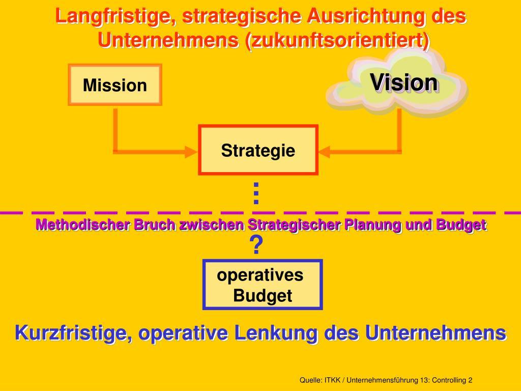 Langfristige, strategische Ausrichtung des