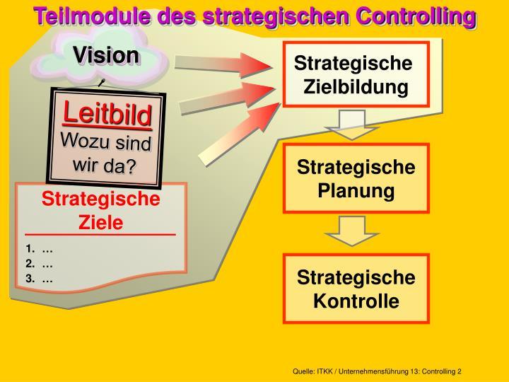 Teilmodule des strategischen controlling
