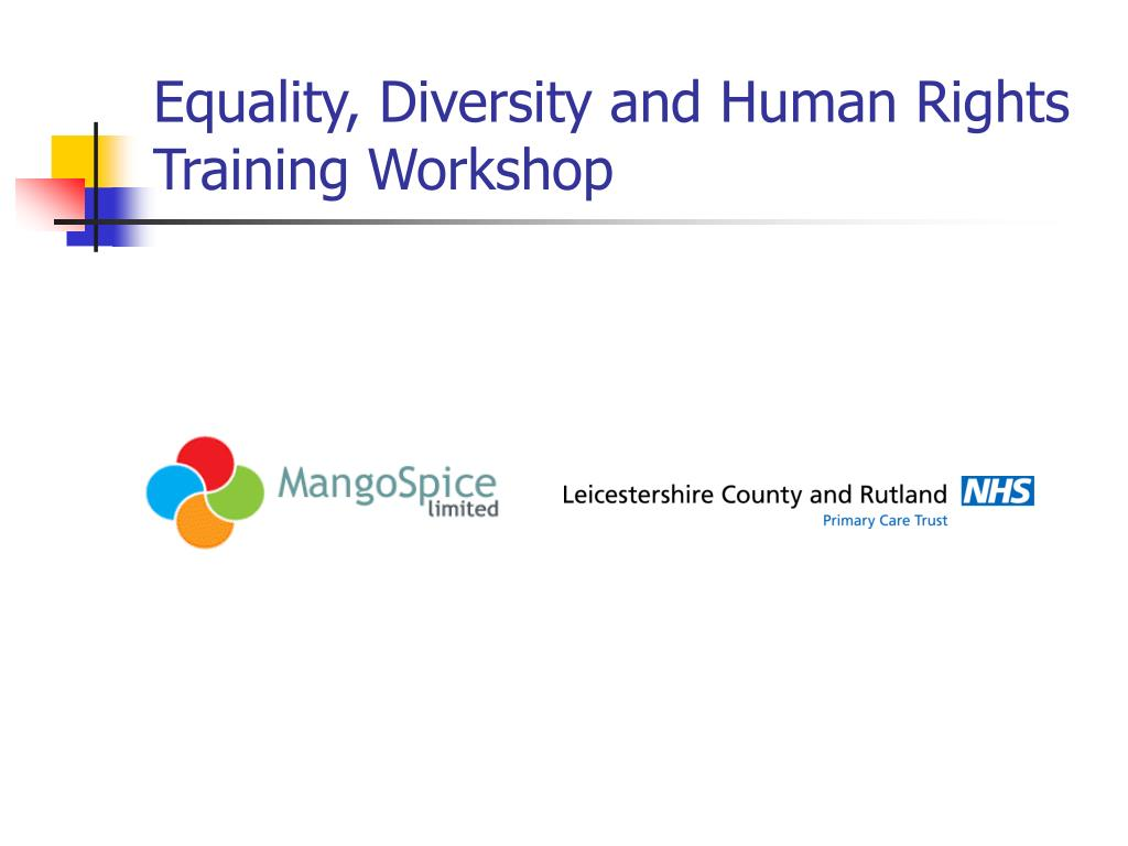 equality diversity and human rights training workshop l.