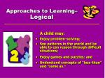 approaches to learning logical